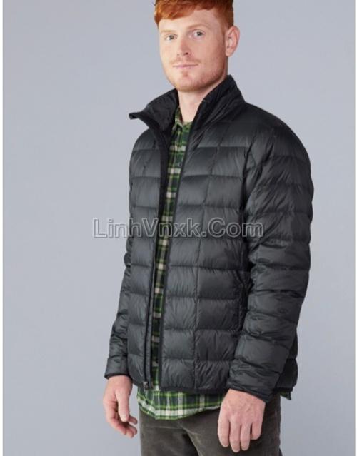 Áo khoác lông vũ gấp gọn xuất Mỹ màu đen
