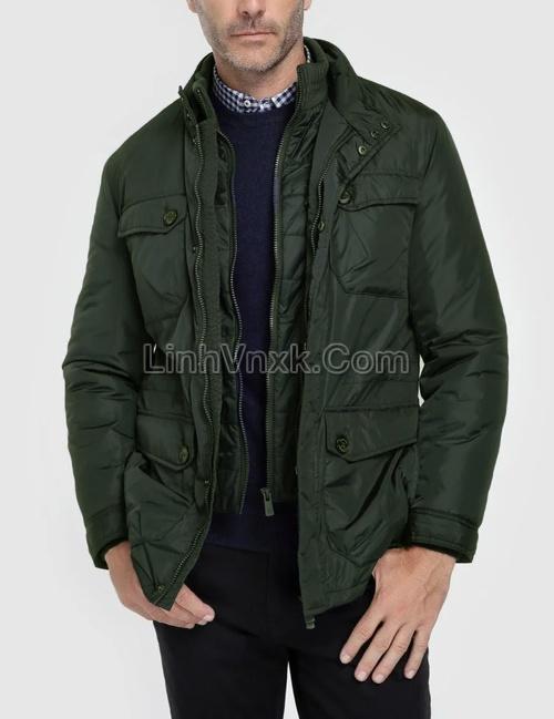 Áo khoác parka nam sang trọng màu rêu