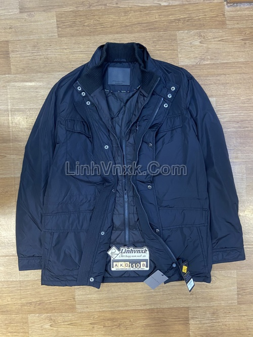 Áo khoác parka nam sang trọng xanh đen