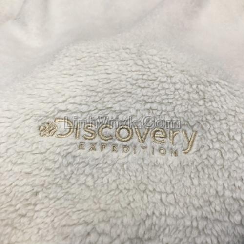 Áo hoodie lông cừu Discovery màu sữa