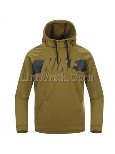 Áo hoodie nam thể thao Nike xanh rêu