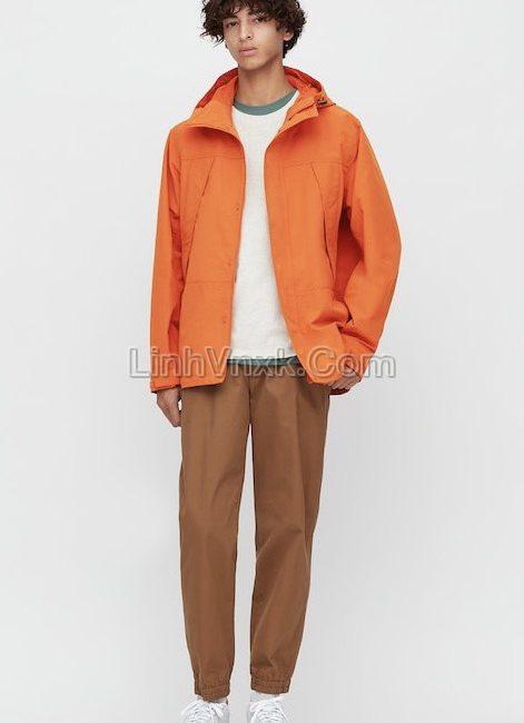 Áo khoác kaki xuất Nhật chống nước màu cam