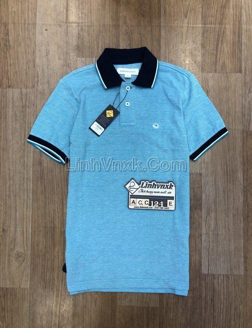 Áo polo nam Aero xanh bạc hà viền cổ