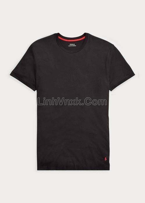 Áo thun Ralph Lauren cotton pima màu đen