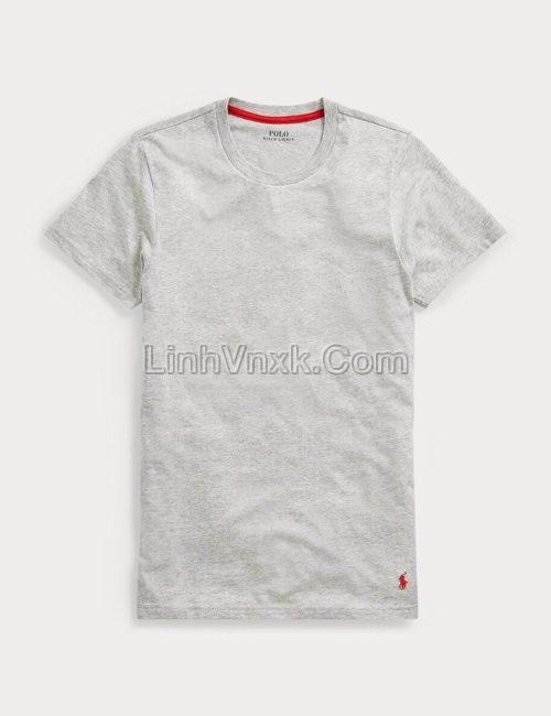 Áo thun Ralph Lauren cotton pima màu ghi
