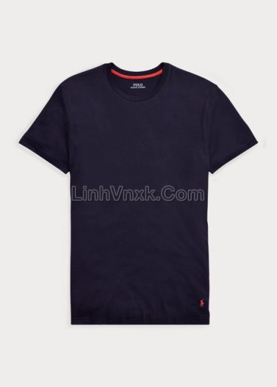 Áo thun Ralph Lauren cotton pima xanh navy
