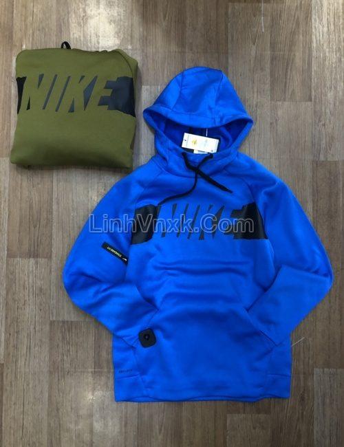 Áo hoodie nam thể thao Nike xanh blue