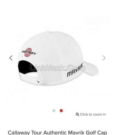 Mũ golf Callaway màu trắng