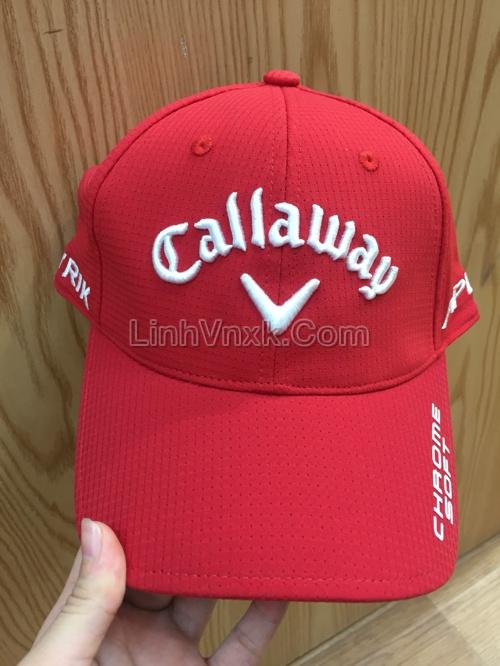 Mũ golf Callaway màu đỏ