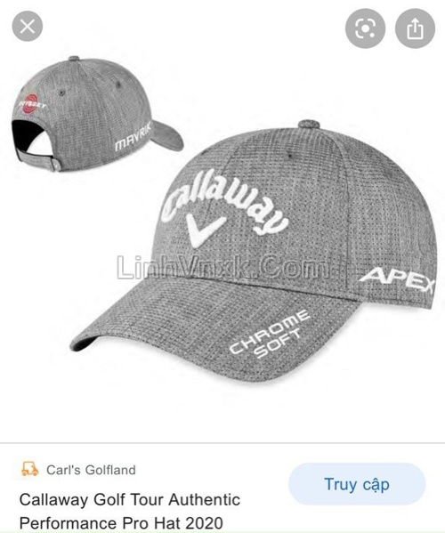 Mũ golf Callaway màu ghi