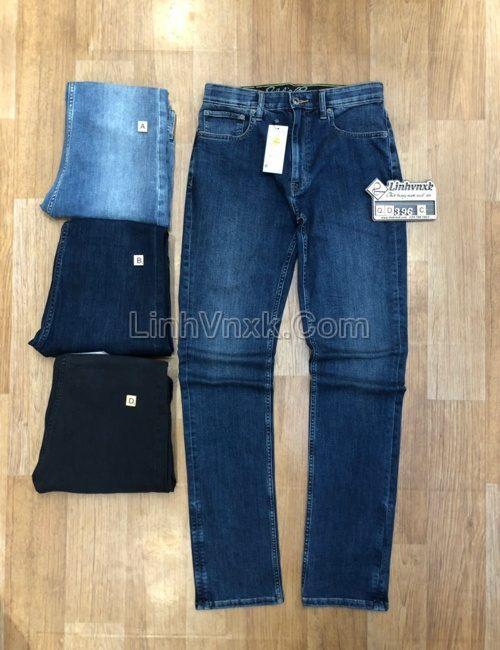 Quần jean nam slimfit xanh mài xuất khẩu