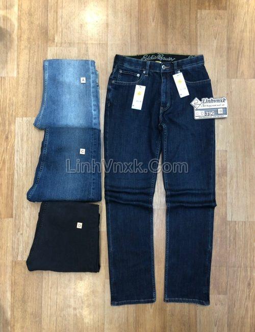 Quần jean xanh đậm slimfit xuất khẩu