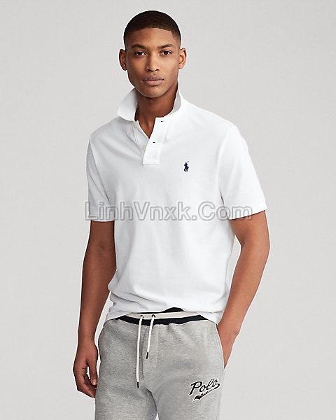 Áo polo Ralph Lauren cổ bẻ màu trắng