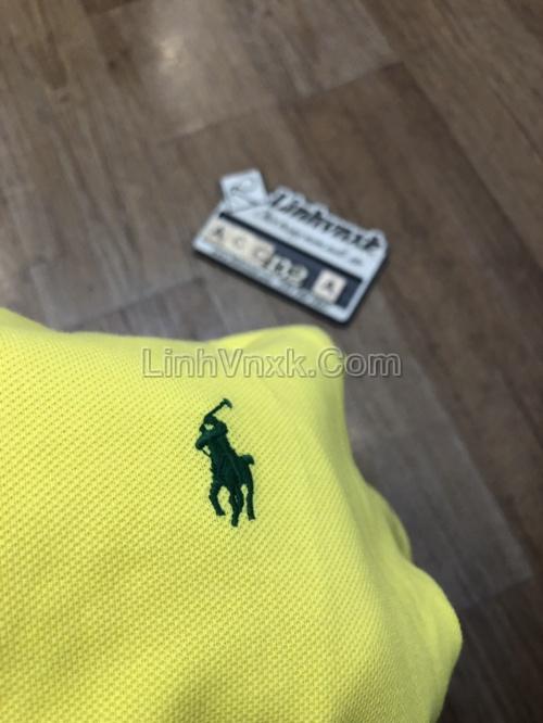 Áo polo Ralph Lauren cổ bẻ màu vàng