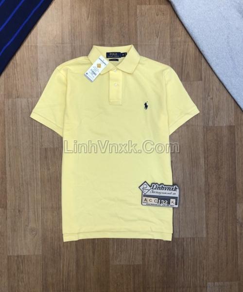 Áo polo Ralph Lauren cổ bẻ màu vàng kem