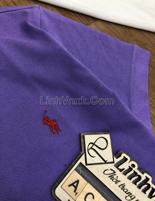Áo polo Ralph Lauren cổ bẻ màu tím