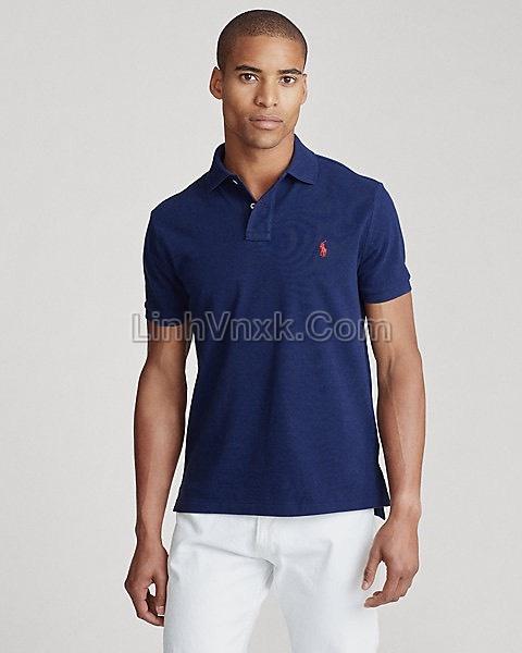 Áo polo Ralph Lauren cổ bẻ xanh navy