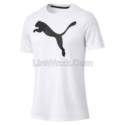 Áo thun nam thể thao puma trắng logo to