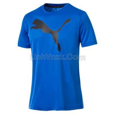 Áo thun nam thể thao puma blue logo to