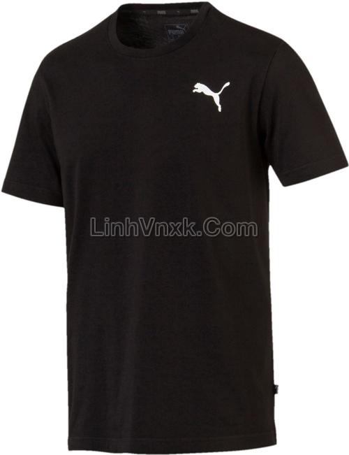 Áo thun nam thể thao puma đen logo nhỏ