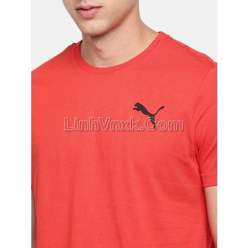 Áo thun nam thể thao puma đỏ logo nhỏ