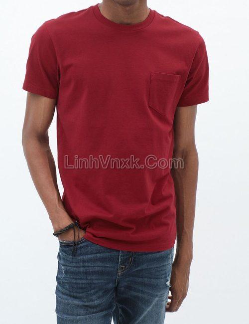 Áo cộc tay túi ngực Aero màu đỏ