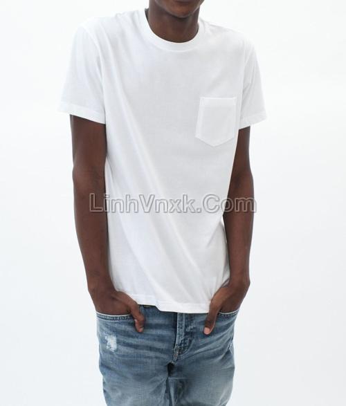 Áo cộc tay túi ngực Aero màu trắng