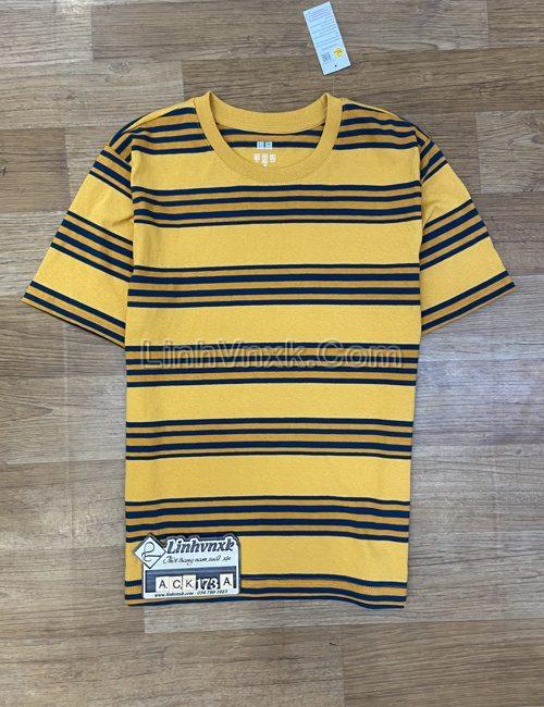 Áo phông Uni kẻ vàng