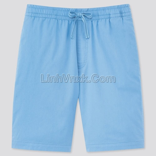 Quần sooc nam cạp chun Uni xanh blue