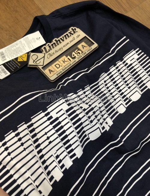 Áo thun dài tay xuất Hàn F2F xanh navy