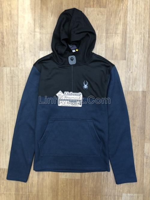 Áo khoác Hoodie Spyder xuất khẩu màu xanh navy