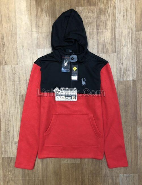 Áo khoác Hoodie Spyder xuất khẩu màu đỏ