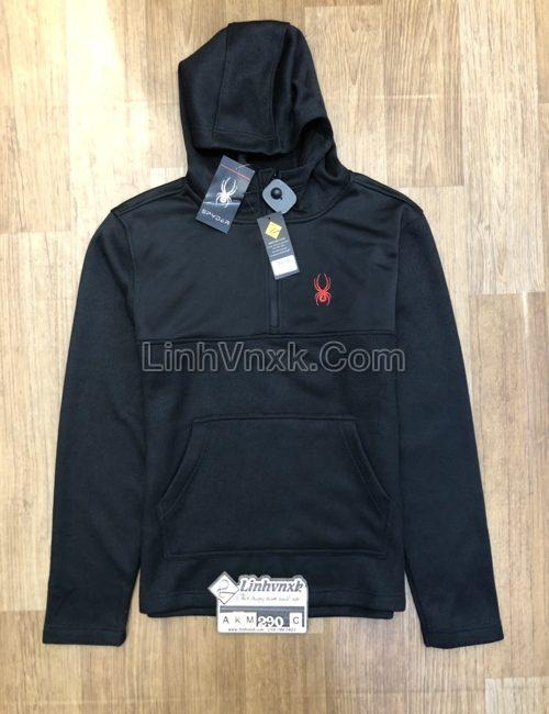 Áo khoác Hoodie Spyder xuất khẩu màu đen